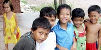 Cambodian boys with one girl